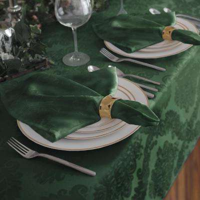 17 in. W x 17 in. L Elrene Barcelona Damask Hunter Fabric Napkins (Set of 4)