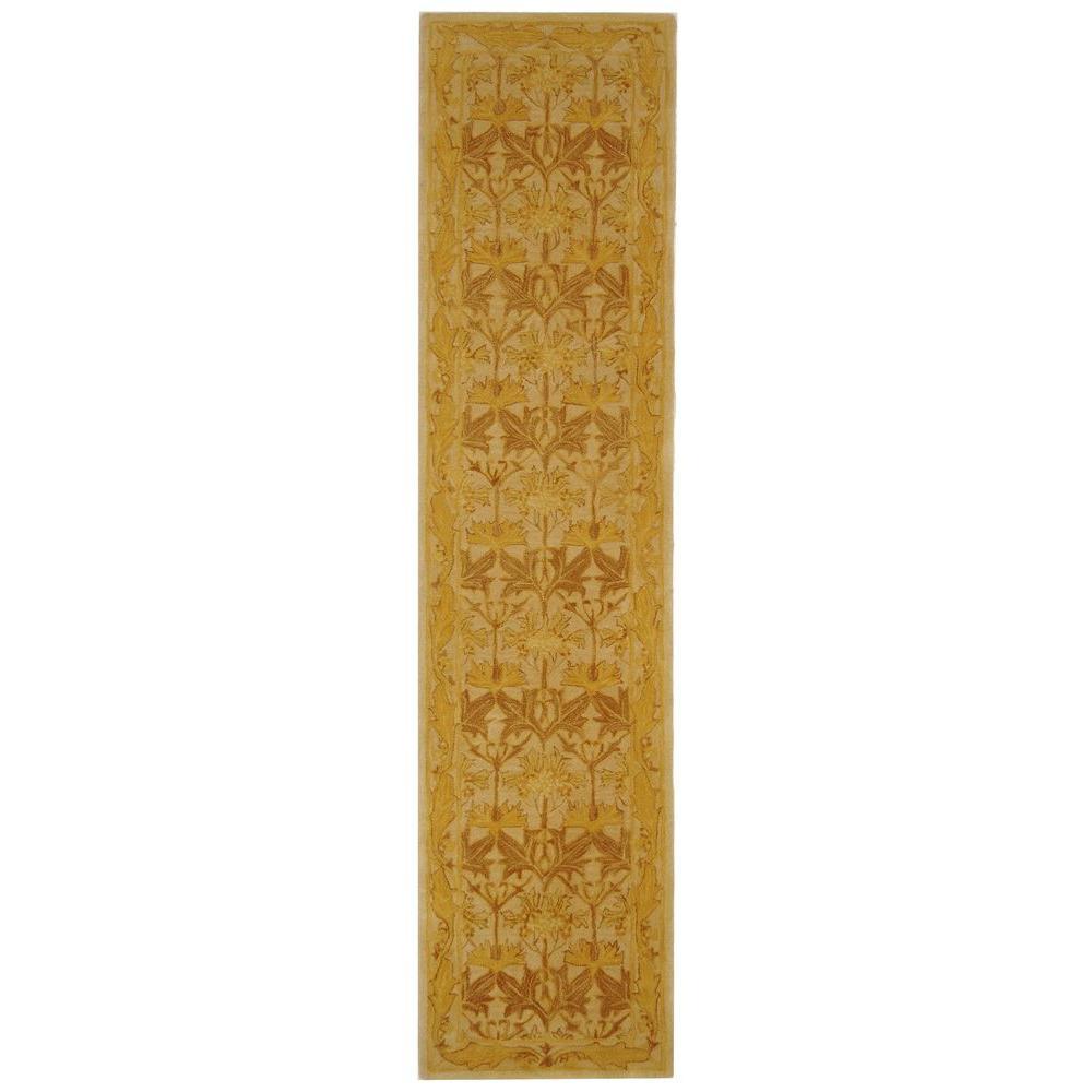 Safavieh Anatolia Ivory/Gold 2 ft. 3 in. x 10 ft. Runner