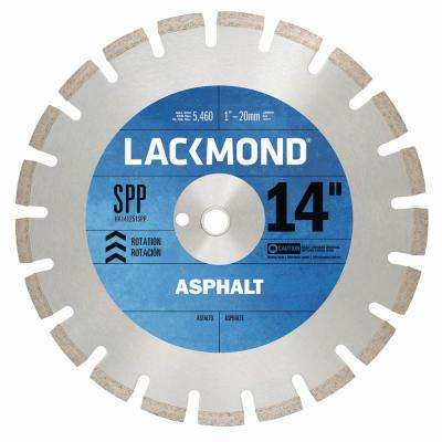 SPP Series Asphalt/Block Blade 14 in. x .125 in. - 1 in. 20 mm Arbor