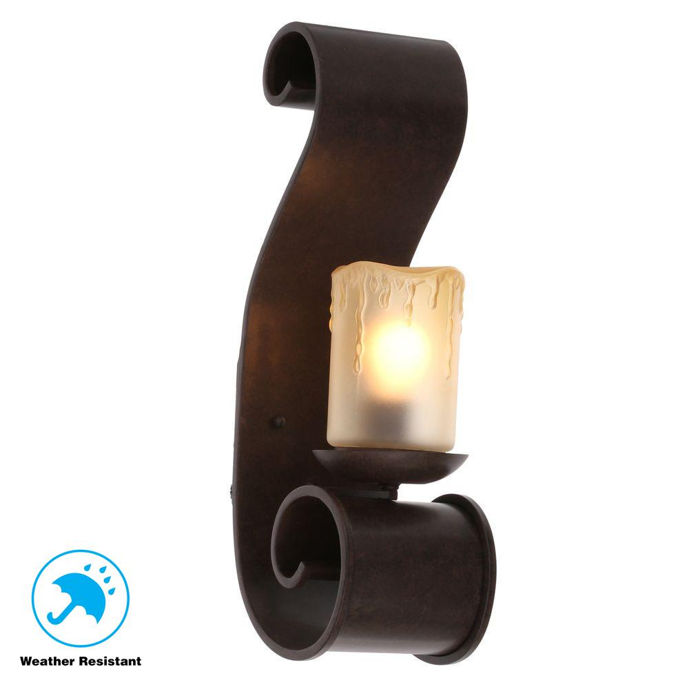 World Imports Adelaide Collection Outdoor Bronze Medium Sconce