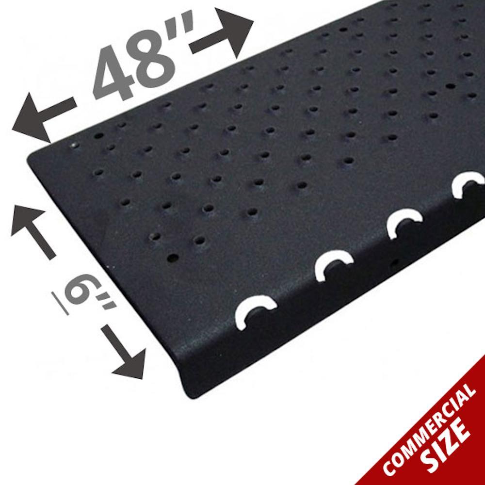 6 in. x 48 in. x 1.25 in. Non Skid Black Aluminum Nosing
