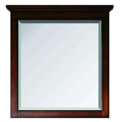 Tropica 31 in. x 32 in. Beveled Edge Single Mirror in Antique Brown