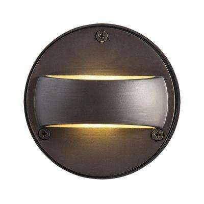 4-Light Bronze Outdoor Integrated LED Wall Mount Sconce