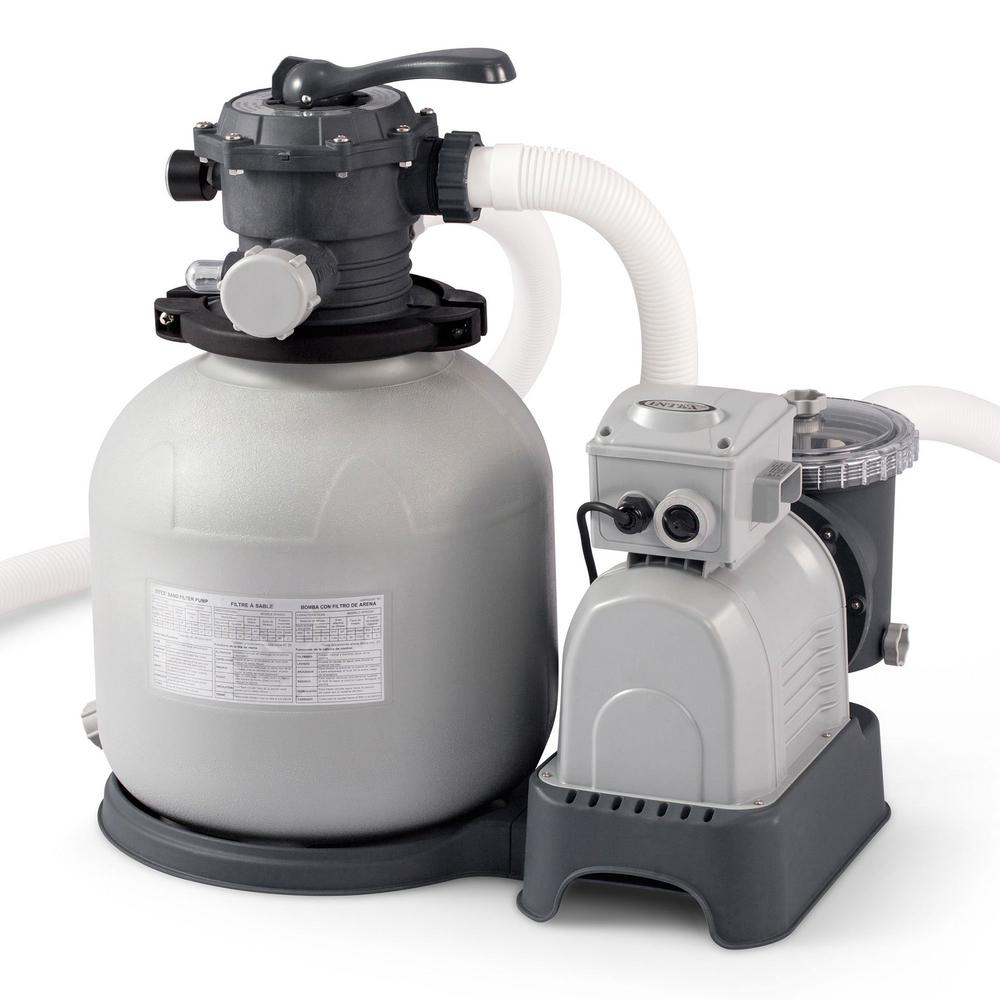 Intex Krystal Clear 3000 GPH Above Ground Swimming Pool Sand Filter Pump