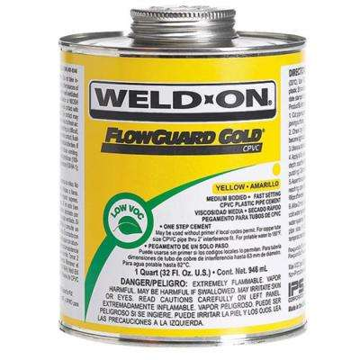 16 oz. Flow Guard CPVC Low VOC Cement in Yellow