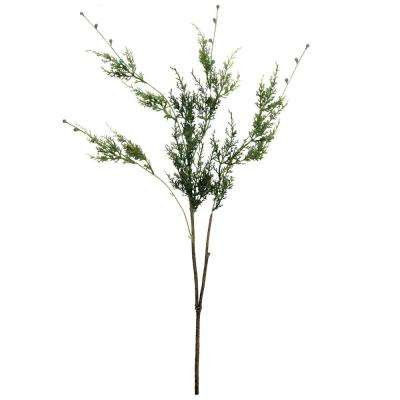 35.5 in. Artificial Green Cypress Hanging Christmas Spray