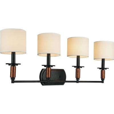 Sia 4-Light Black Sconce