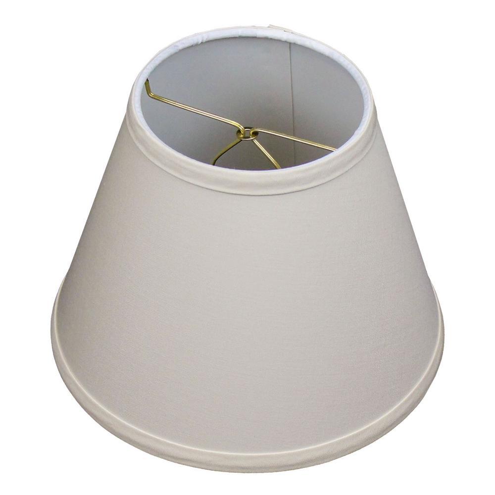 5 in. Top Diameter x 9 in. Bottom Diameter x 7 in. Slant Linen Ivory Empire Lamp Shade