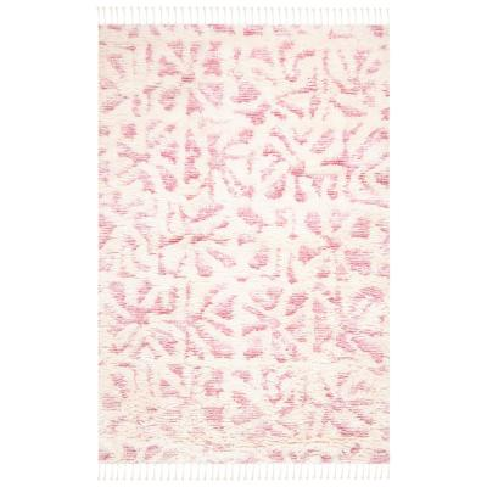 Manhattan Ivory/Pink 6 ft. x 9 ft. Area Rug