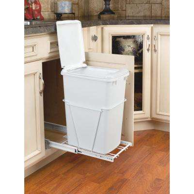 35 Qt.. Pullout Waste Container With Lid
