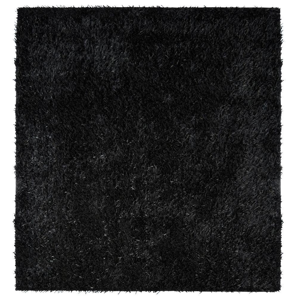 City Sheen Black 5 ft. x 5 ft. Square Area Rug