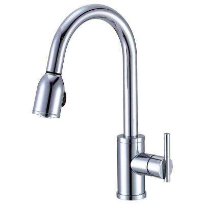Parma Side Mount Single-Handle Pull-Down Sprayer Kitchen Faucet in Chrome