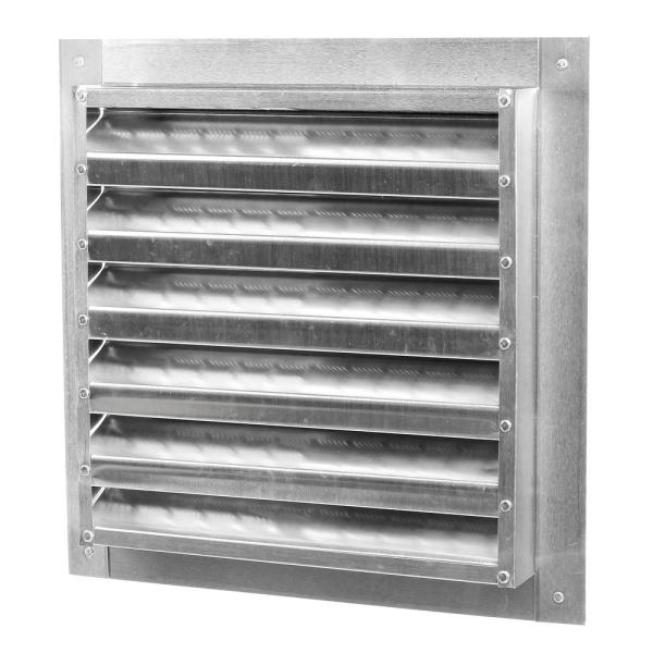 Master Flow 12 In X 12 In Aluminum Wall Louver Static Vent In Mill Da1212 The Home Depot