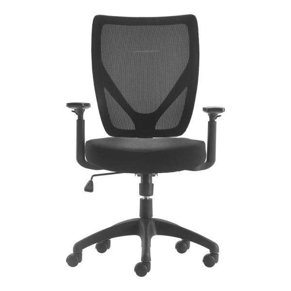 Magnificent Serta Works Ergonomic Mesh Black Office Chair With Nylon Pdpeps Interior Chair Design Pdpepsorg