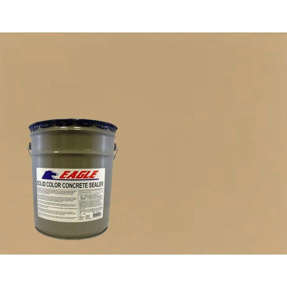 eagle 5 gal neutral tan solid color solvent based concrete sealer ehnt5 the home depot. Black Bedroom Furniture Sets. Home Design Ideas