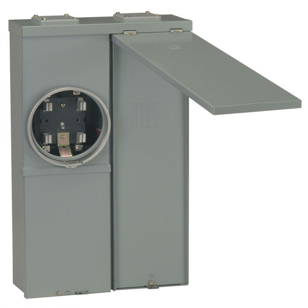 GE PowerMark Gold 100 Amp 2-Space 4-Circuit Meter Socket Load Center