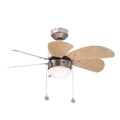 Turbo Swirl 30 in. Indoor Brushed Aluminum Finish Ceiling Fan