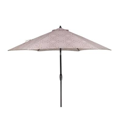 9 ft. Aluminum Market Patio Umbrella in Patnos Small Riverbed