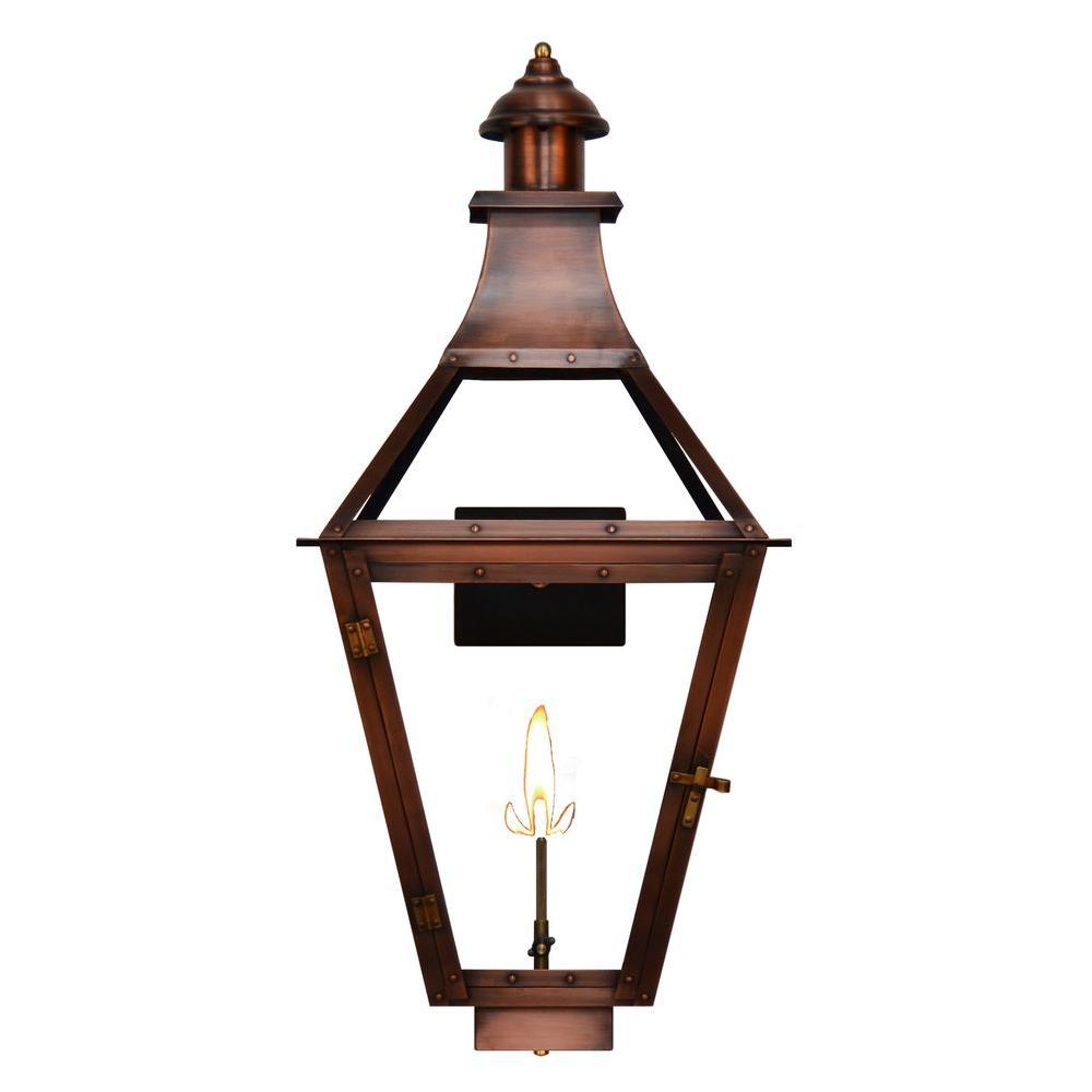 Filament Design Jaxon 1-Burner 25 in. Copper Outdoor Natural Gas Wall Lantern
