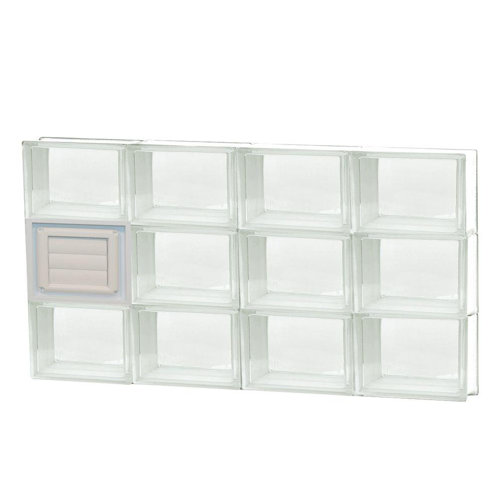 Clearly secure 31 in x in x in frameless for Pre assembled glass block windows