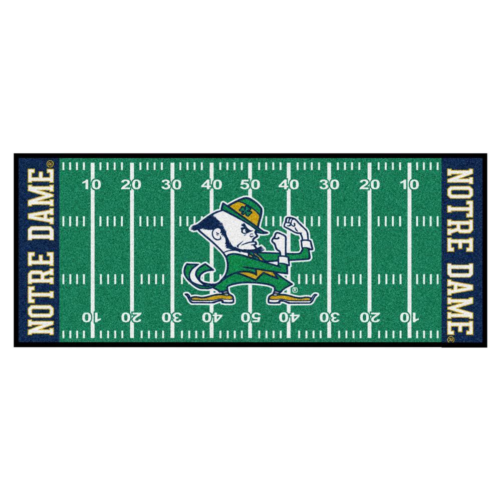 Notre Dame University 3 ft. x 6 ft. Football Field Runner Rug