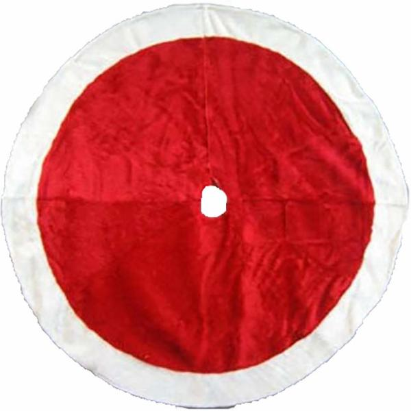 48 in Holiday Traditions Red Plush Tree Skirt