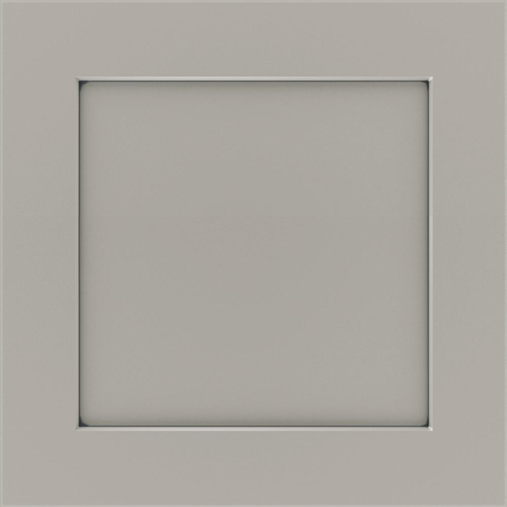 Thomasville Studio 1904 14.5x14.5 in. Cabinet Door Sample in Costello Painted Sterling with Carrara