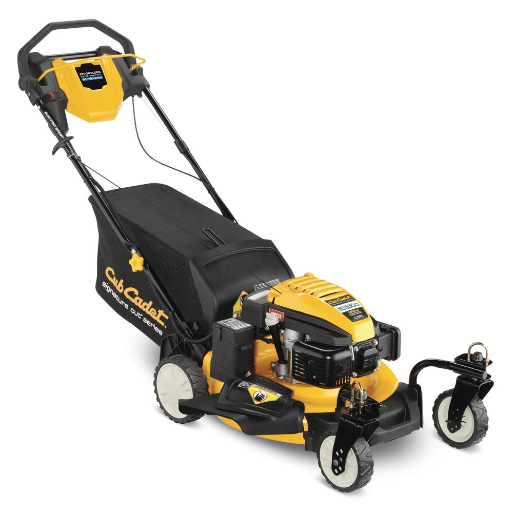 Cub Cadet SC500EZ 21 in. 159 cc 3-in-1 RWD Gas Walk Behind Self-Propelled Mower with Push Button Start and Caster Wheels