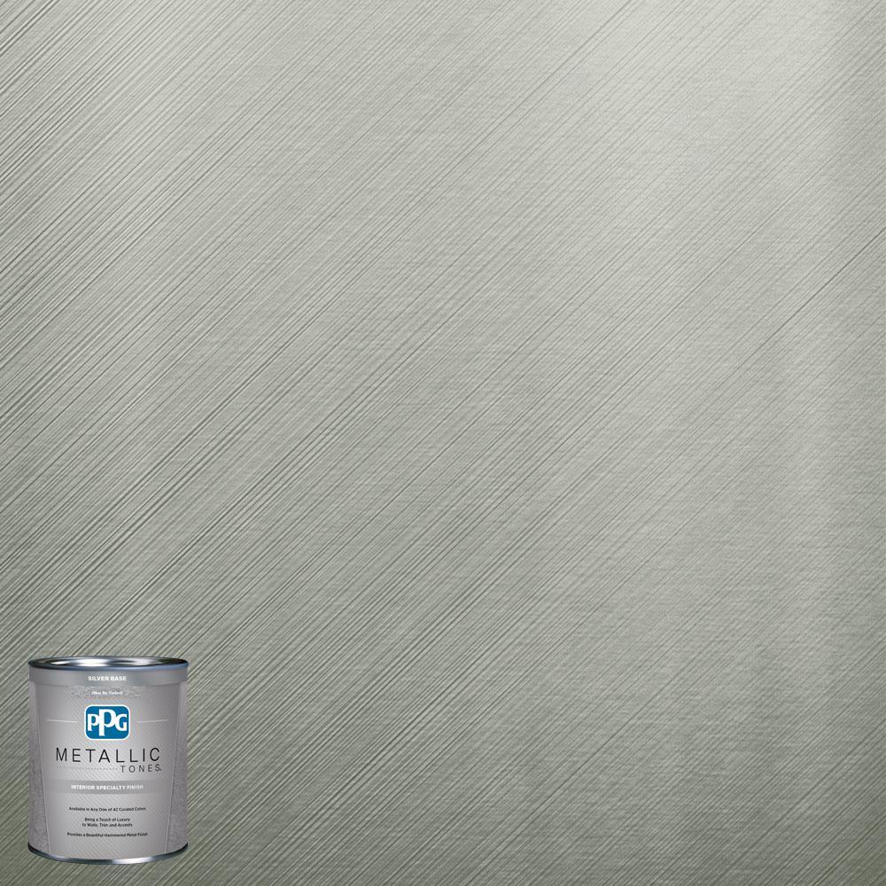 Ppg metallic tones 1 qt mtl122 mucho mint metallic - Metallic paints for interior walls ...