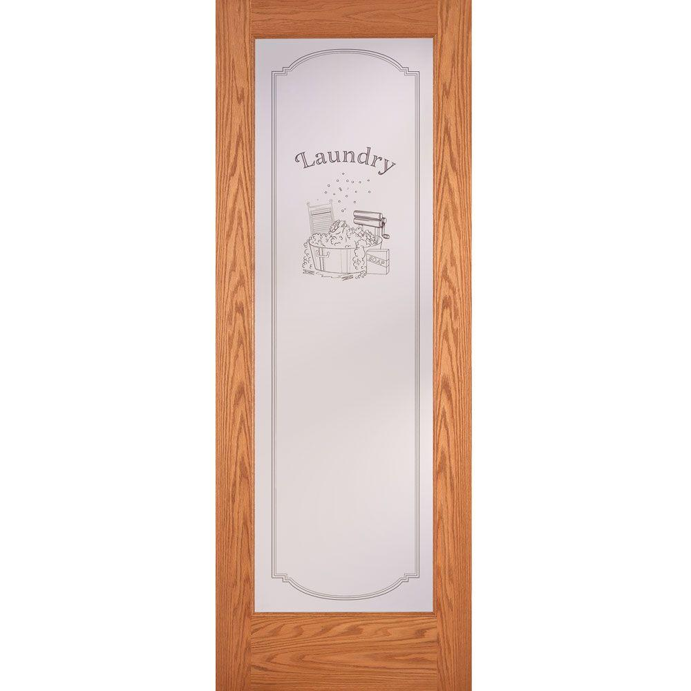 Feather River Doors 32 In X 80 In 1 Lite Unfinished Oak Laundry