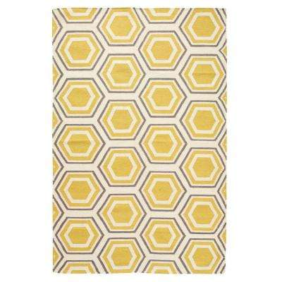 Castleberry Gold/Grey 5 ft. x 8 ft. Area Rug