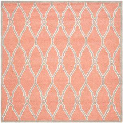 Cambridge Coral/Ivory 6 ft. x 6 ft. Square Area Rug