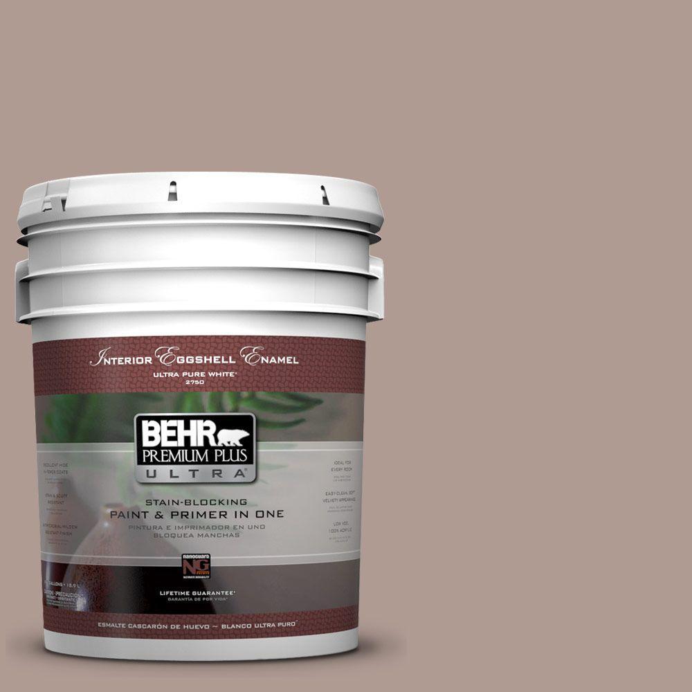BEHR Premium Plus Ultra 5-gal. #N170-4 Coffee with Cream Eggshell Enamel Interior Paint