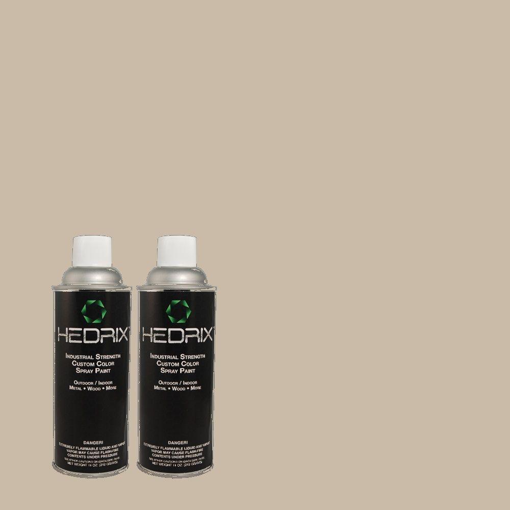 Hedrix 11 oz. Match of PPU18-12 Graceful Gray Flat Custom Spray Paint (8-Pack)