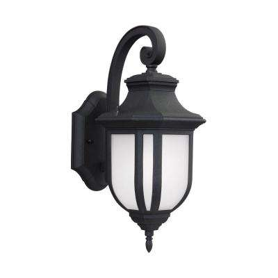 Childress 1-Light Small Black Outdoor Integrated LED Wall Mount Lantern