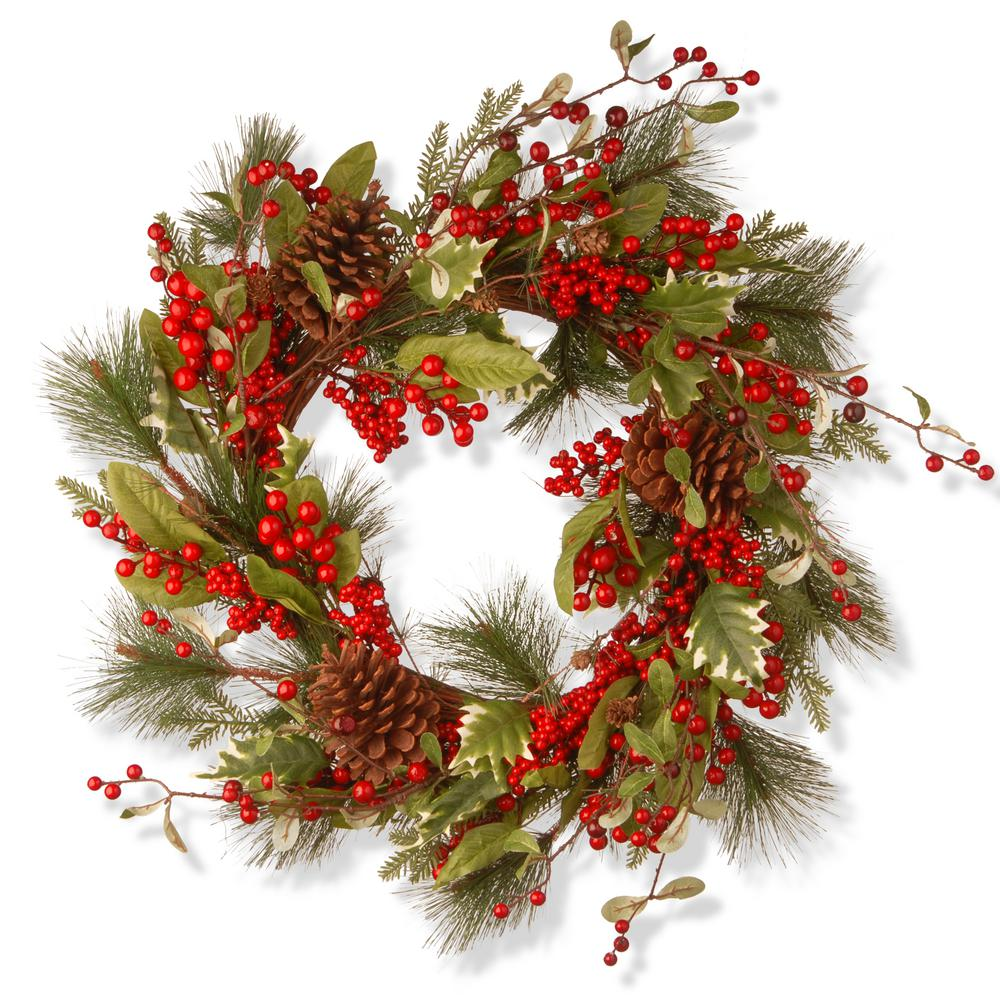 28 in. Red Berry Artificial Wreath