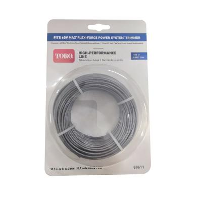0.080 in. 100 ft. Trimmer Line Replacement for 60-Volt 14 in. / 16 in. String Trimmer