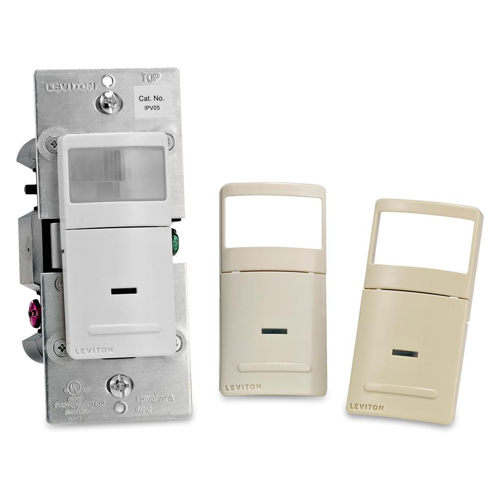 150-Watt LED/CFL 600-Watt Inc Decora 900 sq. ft. Manual-On (Vacancy) Motion Sensor, White/Ivory/Light Almond