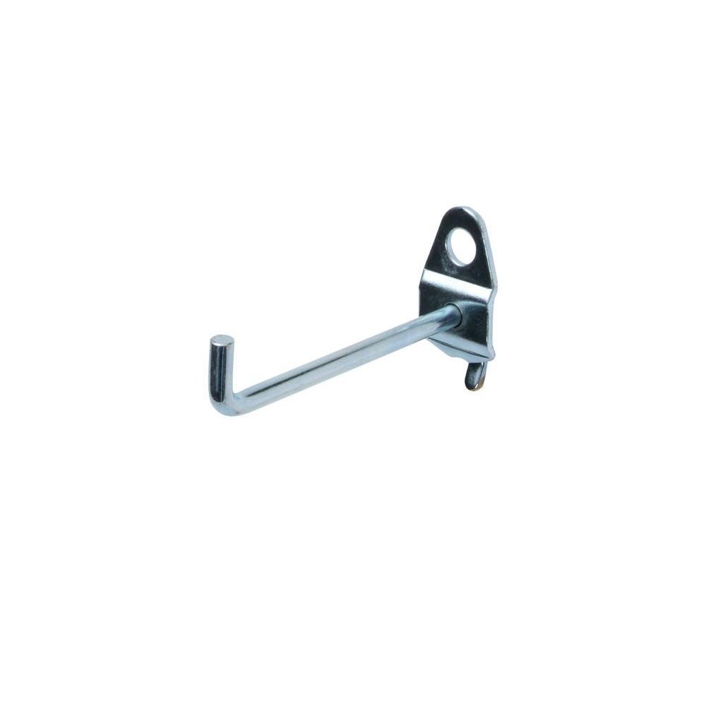 2-3/4 in. Single Rod 90 Degree Bend 3/16 in. Dia Zinc Plated Steel Pegboard Hook (10-Pack)