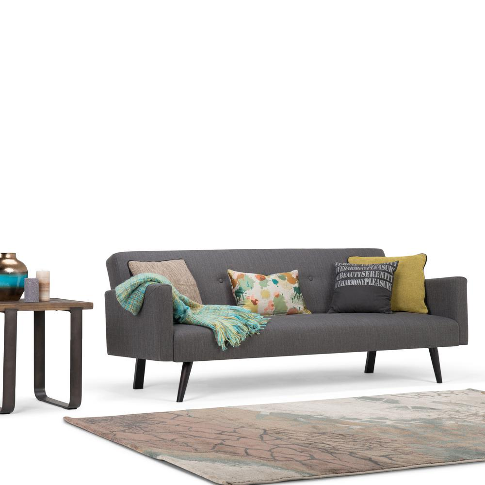 This Review Is From:Morgan 1 Piece Graphite Grey Linen Look Fabric Sofa Bed