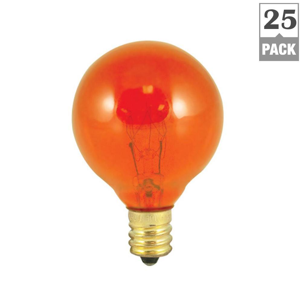 10-Watt G12 Transparent Amber Dimmable Incandescent Light Bulb (25-Pack)