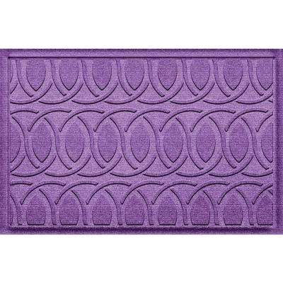 Aldine Purple 23 in. x 36 in. Polypropylene Door Mat