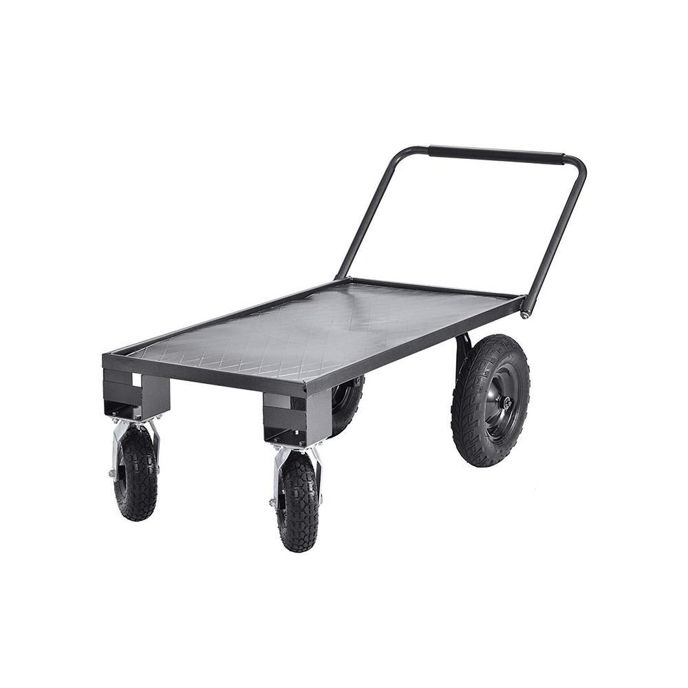 24 in. D x 48 in. W x 17 in. H Heavy-Duty Steel Garden Cart, 400 lb. Capacity