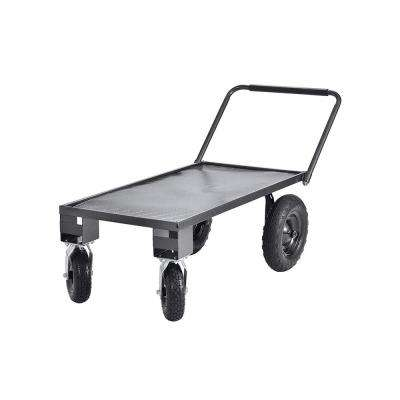 24 in. D x 48 in. W x 17 in. H Heavy-Duty Steel Garden Cart, 400 lb. Capacity