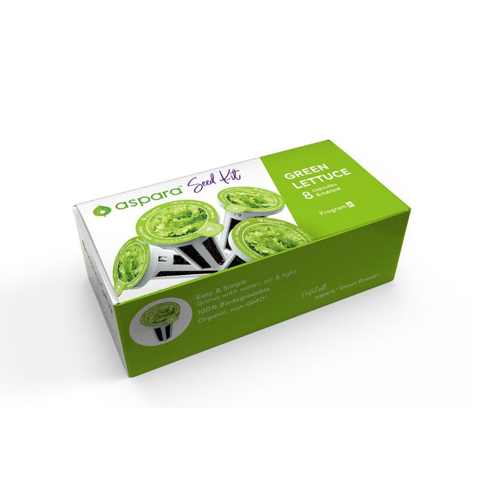 Organic Green Lettuce 8 Capsule Seed Kit
