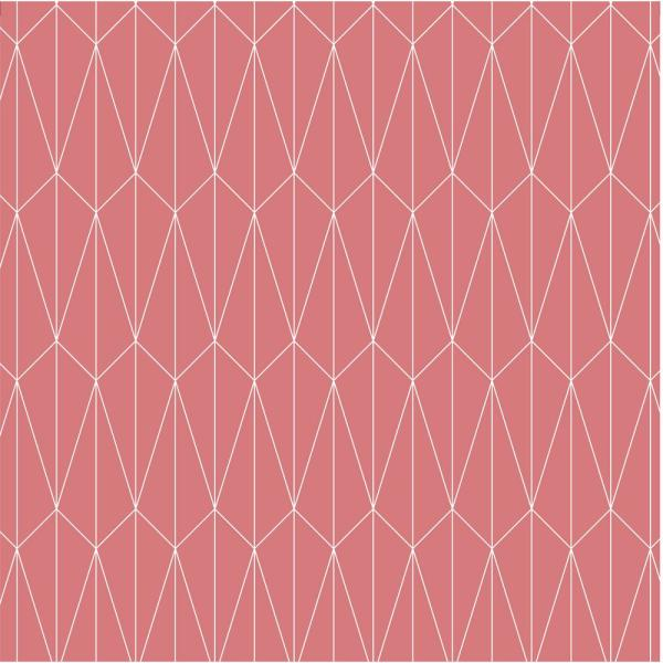 Mitchell Black Debut Collection Long Lines in Rose/White Removable and Repositionable Wallpaper