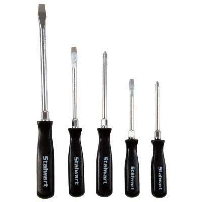 Screwdriver Set with Storage Pouch (5-Piece)