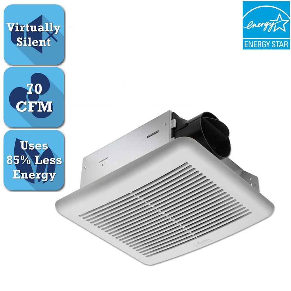 Delta Breez Slim Series 70 CFM Wall or Ceiling Bathroom Exhaust Fan, ENERGY STAR*