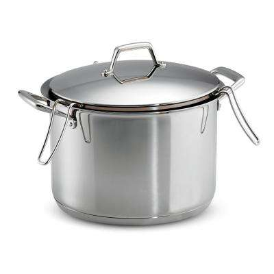 Gourmet Prima 12 Qt. Stainless Steel Stock Pot with Pasta Inserts and Lid
