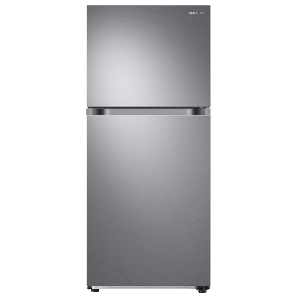 Samsung 17.6 cu. ft. Top Freezer Refrigerator with FlexZone Freezer in Stainless, Energy Star